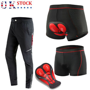 Mens Cycling Trousers Shorts MTB Mountain Bike Riding Bicycle Pants Windproof UK