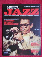 Rivista MUSICA JAZZ 2/1982 Chet Baker Piero Bassini Sonny Rollins  No cd