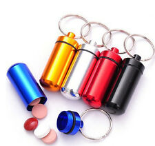 10pcs Travel Waterproof Mini Aluminum Medicine Pill Boxes Cases Bottle Container
