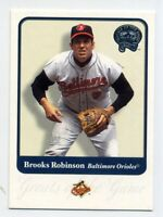 2001 Fleer Greats of Game #22 BROOKS ROBINSON Baltimore Orioles BASEBALL CARD