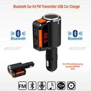 Bluetooth Car Kit FM Transmitter USB Car with Charging