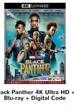 BLACK PANTHER 4K UHD BLU-RAY DIGITAL COPY W/SLIP COVER & EXCLUSIVE LITHOGRAPH