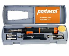 Portasol Super Pro 125W Heat Tool Kit Gas Soldering Iron Self Ignite with 7 Tips
