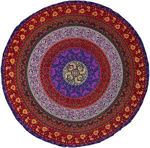 Handmade Hippie Bohemian Mandala Round Wall Hanging Bedding Tapestry Tie Dye