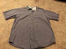The North Face A5 Series Short Sleeve Button Shirt Sz Large Gray Stripe Men
