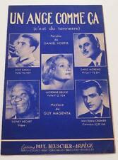 Partition sheet music DARIO MORENO / SIDNEY BECHET : Un Ange Comme ça *50's Jazz