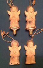 Lot of 4 Vintage Collectible Plastic Angel Christmas Tree Lights