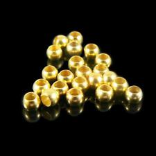1.5mm inside diameter gold plated, smooth crimp beads, 1000 pcs