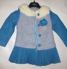 Girls Dress Coat Blue & White Unbranded Size (4-5) ?