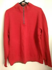 MEN'S MEDIUM TOMMY BAHAMA FLIP SIDE REVERSIBLE RED BROWN 1/4 ZIP SWEATER