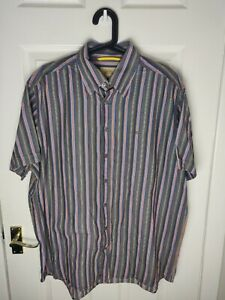 FANTASTIC CAMEL ACTIVE STRIPED SHIRT SIZE LARGE XL SHORT SLEEVE COLLAR Funky
