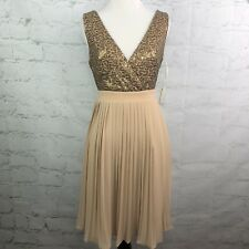 MM Couture Dress Womens XS Gold Cocktail Miss me Sequin Prom