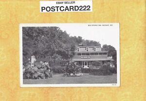 MO Neosho 1908-39 vintage postcard THE BIG SPRING INN Missouri