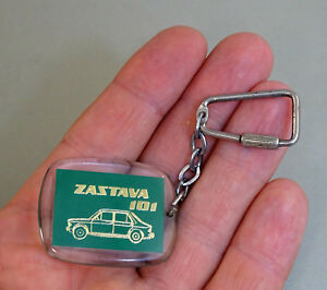 Vintage Keychain Key Ring ZASTAVA 101 Car Manufacturer ZCZ Zastava Vehicles