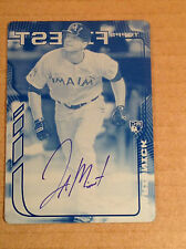 2014 Topps Finest Jake Marisnick Auto Autograph Print Plate #'d 1/1  - Astros