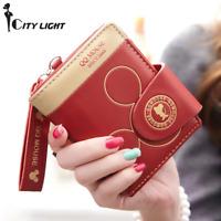 Women small wallet cartoon mickey cute coin purse hasp card holder womens wallet