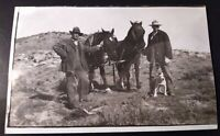 REAL PHOTO POSTCARD RPPC PITBULL BULLDOG HORSES, CLERMONT, IOWA CIRCA 1910