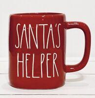 Rae Dunn Red Christmas SANTA'S HELPER Mug NEW 🎅🏻 IN HAND