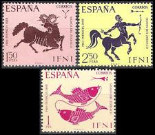 Colonias españolas Ifni 1968 bienestar infantil signos del zodíaco estampillada sin montar o nunca montada Fina 233 - 235