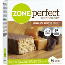 Zone Perfect Nutrition Bars, Chocolate Caramel Cluster 5 Bars Each Exp 12/2020