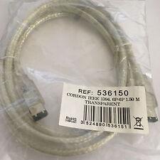 Cordon DV IEEE 1394 transparent - 6P/6P 1.50M