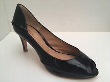 Maloles Elexa Black Patent Peep Toe Court Shoes UK 4 *BNWB*