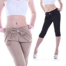 Pantaloni da donna neri in cotone
