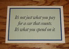 Original 1999 Honda Accord & Civic Cost of Ownership Sales Brochure 99
