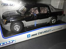 2002 Chevrolet Avalanche Black Welly 1/18