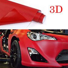 "16""x40"" 3D Carbon Red DIY Fiber Vinyl Wrap Sheet Roll Sticker Decal for Car 1pcs"