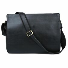 Mens Real Leather Briefcases Messenger Shoulder Bags Cross Body Large Capacity
