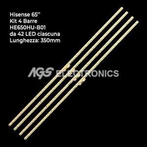 KIT 4 BARRES DE BANDE TV LED HISENSE H65M5500, HE650HU-B51 RSAG7.820.6367