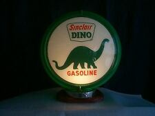 gas pump globe SINCLAIR & LIGHT STAND NEW reproduction glass lenes