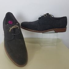 Gordon Rush Mens 11 Kinsley Wingtip Brogue Derby Oxford Espresso Waxy Suede Shoe