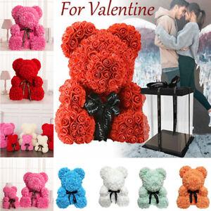 Rose Flower Teddy Bear Valentine's Day Girlfriend Birthday Christmas Gifts