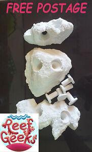 Frag Rock, 3pcs Large Frag rock set,Frag plugs, Zoa, LPS, SPS, coral, frag rack