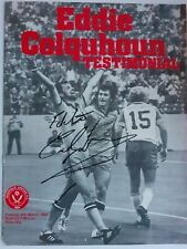 More details for sheffield united hand signed eddie colquhoun testimonial programme 1980