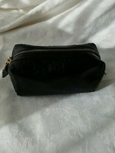 Gucci Pouch Bag Guccissima Black Leather Authentic Preowned