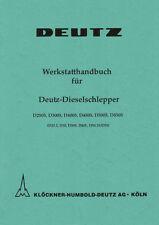 Werkstatthandbuch Deutz Schlepper Traktor D5505