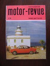 Motor checoslovacos-Revue 2/76, entre otras cosas, skoda camiones, skoda 110ls, CZ mc 250