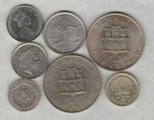 7 COINS FROM GIBRALTAR 1967 TO 2016 IN VERY FINE TO NEAR MINT CONDITION