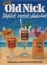 Publicité Advertising 1985  PUNCHS OLD NICK