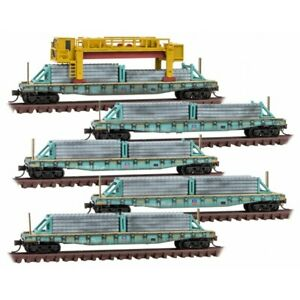 MICRO TRAINS N SCALE 993 02 170 UNION PACIFIC CONCRETE TIE LOADER 5 PACK