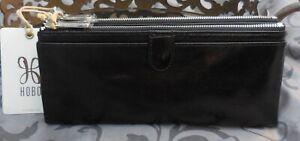 Hobo International ~TAYLOR Vintage Leather Bifold Clutch Wallet~BLACK~NWT $128