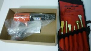New Snap On Super Duty Air Hammer, Red Color, With New 6 Piece Bit Set