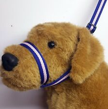 Figure of eight Airweb cushion  dog halter headcollar & Lead in 1 Purple & Lilac