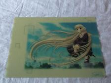 Chobits Pencil Board Shitajiki  (Chii, semi-transparent) Clamp
