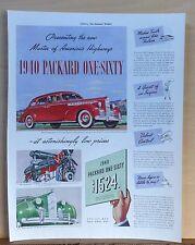 1939 magazine ad for Packard  - 1940 Packard Super-8 160 Touring Sedan, Master