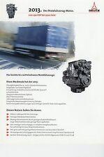 Deutz Motor 2013 für Nutzfahrzeuge Prospekt 2/98 1998 brochure truck engine LKWs