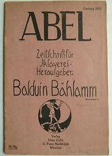 Abel Balduin Bählamm, Karikatur, Fasching, Rudolf Hoerschelmann, Kunst, 1912
